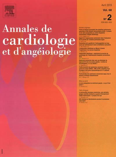 ANNALES DE CARDIOLOGIE ET D'ANGEIOLOGIE