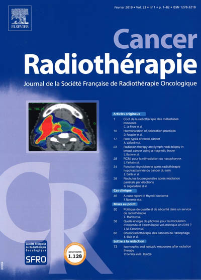 CANCER RADIOTHERAPIE