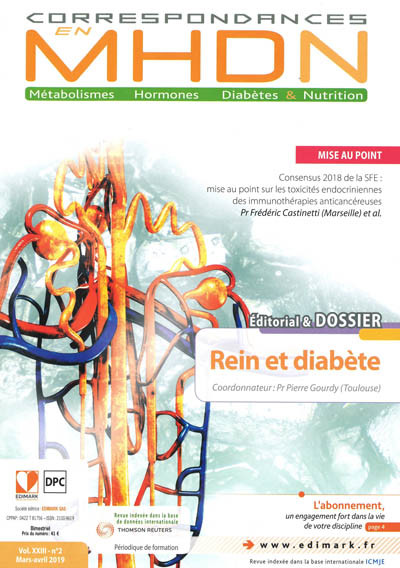 CORRESPONDANCES EN M H D N (Métabolismes Hormones Diabètes & Nutrition)