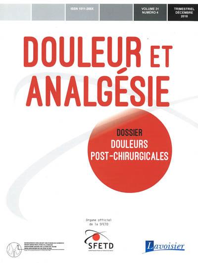 DOULEUR ET ANALGESIE