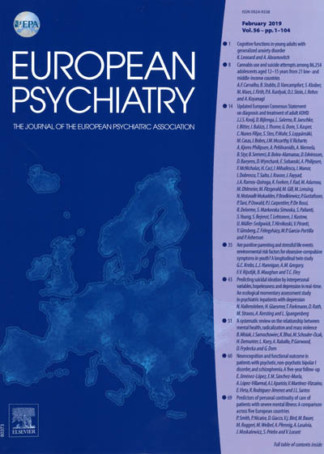 EUROPEAN PSYCHIATRY