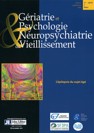 GERIATRIE ET PSYCHOLOGIE NEUROPSYCHIATRIE DU VIEILLISSEMENT