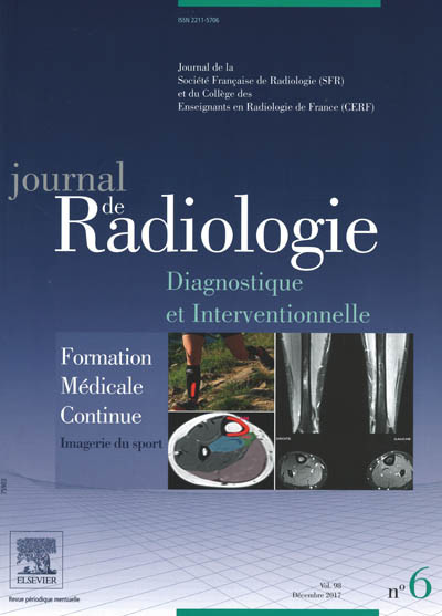 JOURNAL DE RADIOLOGIE diagnostique et interventionnelle