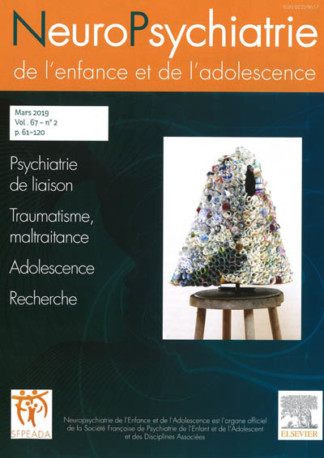 NEUROPSYCHIATRIE DE L'ENFANCE ET DE L'ADOLESCENCE