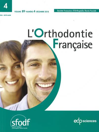 ORTHODONTIE FRANCAISE (L')