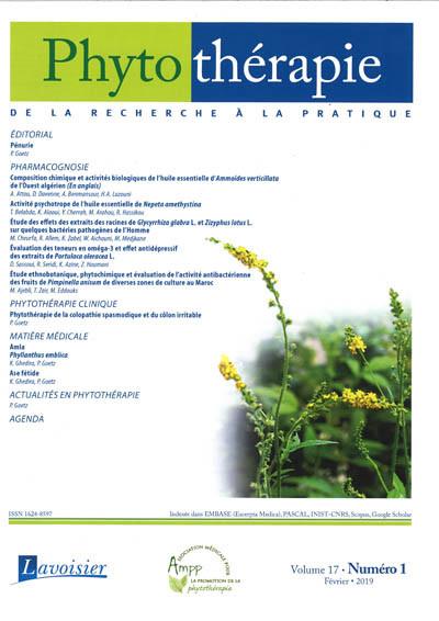 PHYTOTHERAPIE (de la recherche à la pratique)