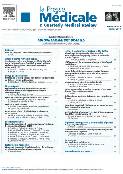 PRESSE MEDICALE & Quarterly Medical Review (LA)