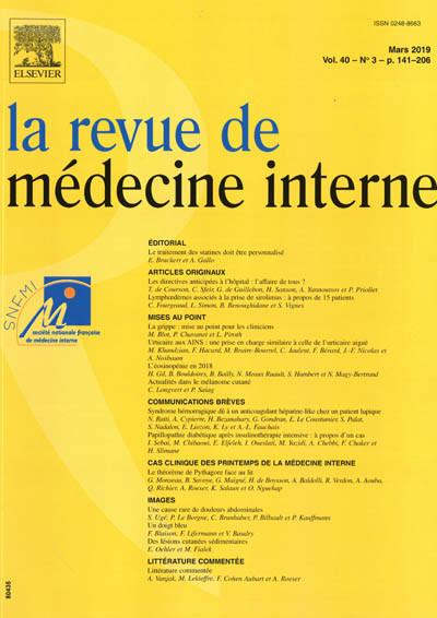 REVUE DE MEDECINE INTERNE (LA)