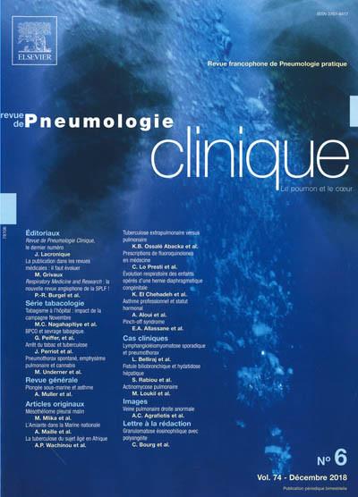 REVUE DE PNEUMOLOGIE CLINIQUE - Le poumon et le coeur