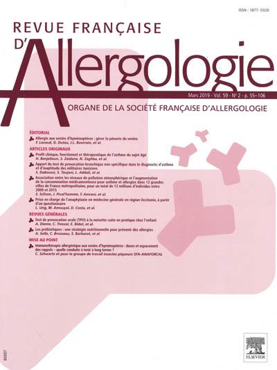 REVUE FRANCAISE D'ALLERGOLOGIE